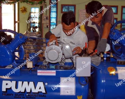 bảo trì cho máy nén khí Puma