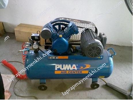 Người dùng cần chú ý lắp đặt máy nén khí Puma ở nơi bằng phẳng, khô ráo, thoáng mát