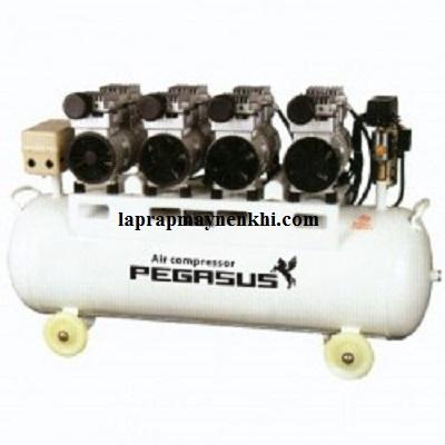 Máy nén khí dây đai không dầu Pegasus chính hãng