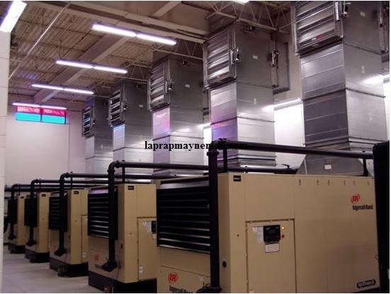 Lắp đặt hệ thống thông gió giúp máy nén khí hoạt động ổn định, bền bỉ