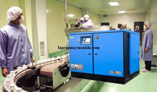 Máy nén khí trục vít không dầu được sử dụng trong ngành y