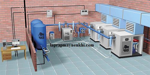 Đường ống dẫn khí trong hệ thống máy bơm khí nén