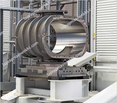Cấu tạo máy nén không khí Root đơn giản, chắc chắn