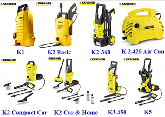 Những dòng thiết bị máy rửa xe Karcher