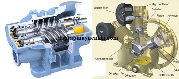 Sự khác biệt giữa máy nén khí piston và máy nén khí trục vít