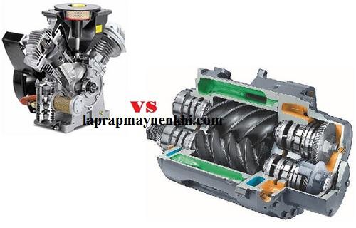 Máy nén khí trục vít và máy nén khí Piston