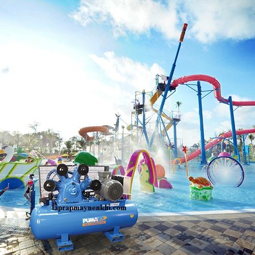 Máy nén khí không dầu cung cấp nguồn khí nén sạch là lựa chọn phù hợp cho các khu vui chơi giải trí