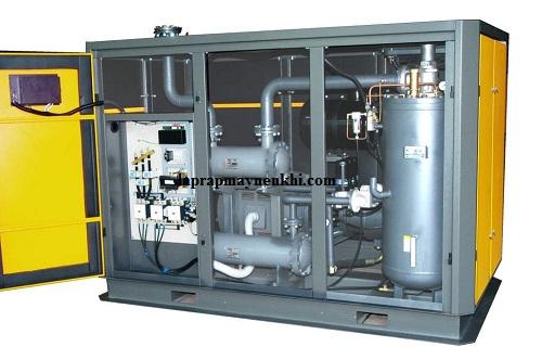 Máy nén khí không dầu được sử dụng trong ngành yêu cầu chất lượng khí nén sạch 100% không lẫn hơi dầu
