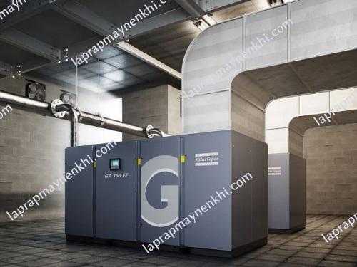Oil-injected Screw GA 160 FF in a compressor room
