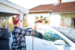 Máy rửa xe gia đình mini