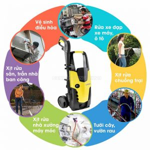 Máy rửa xe mini với nhiều ứng dụng thiết thực